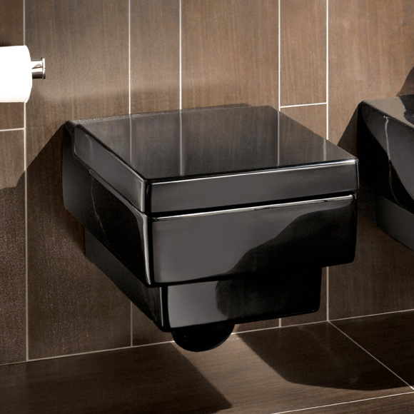 villeroy boch memento wc sitz glossy black 9m17s1s0 reuter onlineshop. Black Bedroom Furniture Sets. Home Design Ideas