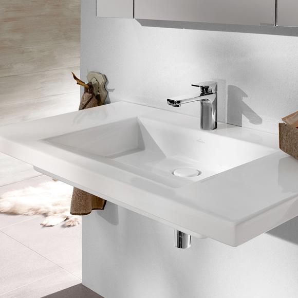 villeroy boch metric art schrankwaschtisch starwhite ceramicplus 519511r2 reuter onlineshop. Black Bedroom Furniture Sets. Home Design Ideas