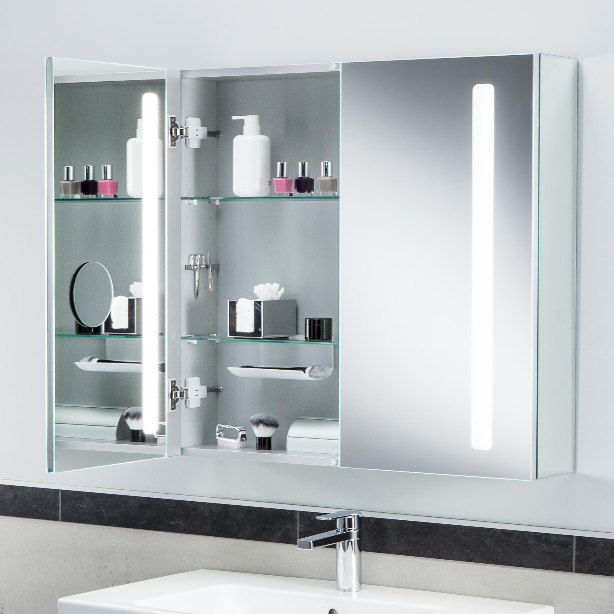 Villeroy boch my view 14 spiegelschrank mit led for Spiegelschrank 110 cm breit