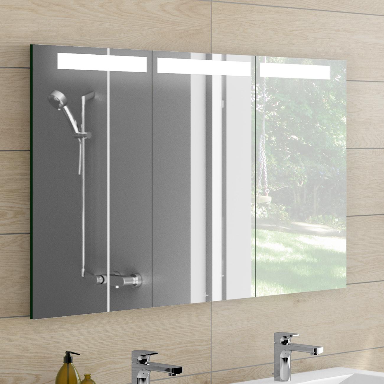 villeroy boch my view in spiegelschrank mit led. Black Bedroom Furniture Sets. Home Design Ideas