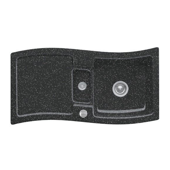 villeroy boch new wave 60 sp le mit excenterbet tigung b 98 t 51 cm chromit gl nzend. Black Bedroom Furniture Sets. Home Design Ideas