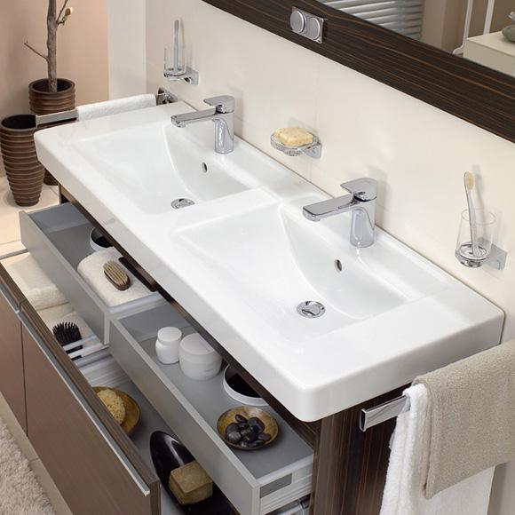 villeroy boch omnia architectura doppelwaschtisch wei mit ceramicplus 613113r1 reuter. Black Bedroom Furniture Sets. Home Design Ideas