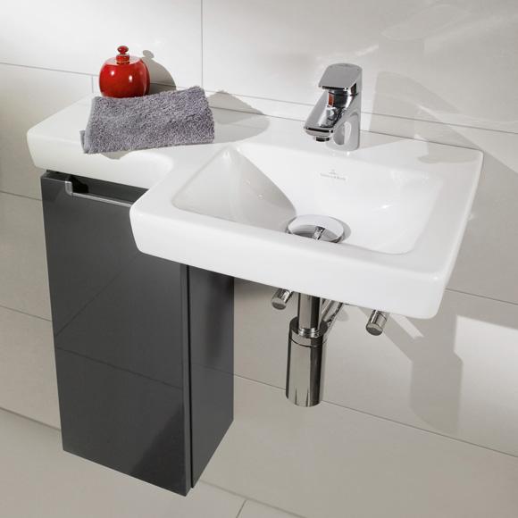 villeroy boch subway 2 0 handwaschbecken wei mit ceramicplus ohne berlauf 41156rr1. Black Bedroom Furniture Sets. Home Design Ideas