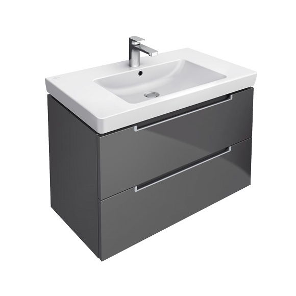 villeroy boch subway 2 0 vanity unit with 2 drawers glossy white a69600dh reuter. Black Bedroom Furniture Sets. Home Design Ideas