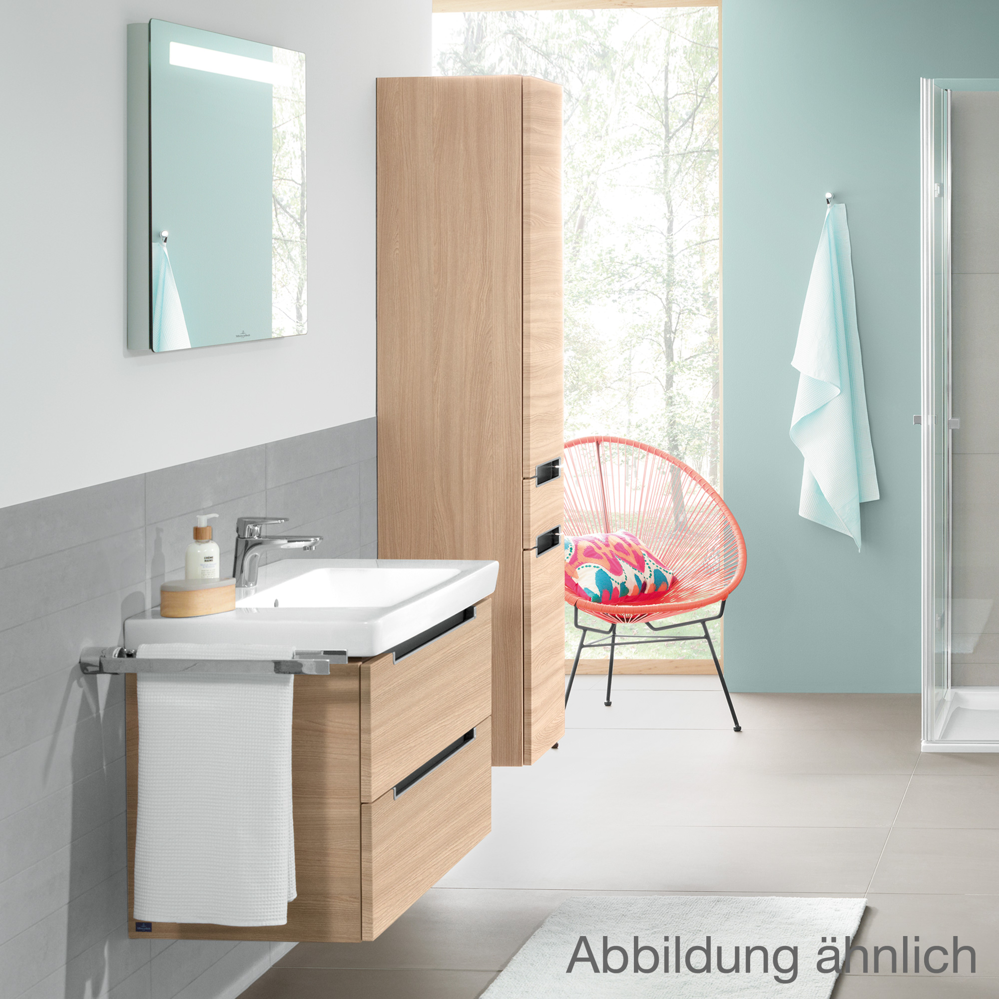 villeroy boch subway 2 0 waschtischunterschrank mit 2 ausz gen santana oak a69700e1 reuter. Black Bedroom Furniture Sets. Home Design Ideas