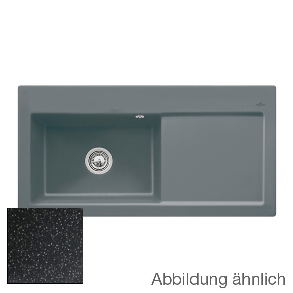 villeroy boch subway 60 xl sp le mit handbet tigung b 100 t 51 cm becken links chromit. Black Bedroom Furniture Sets. Home Design Ideas