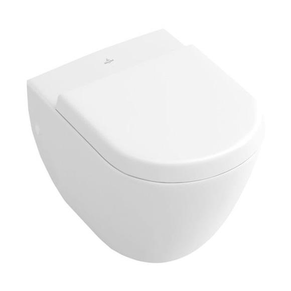 villeroy boch subway tiefsp l wand wc compact l 48 b 35 5 cm starwhite ceramicplus. Black Bedroom Furniture Sets. Home Design Ideas