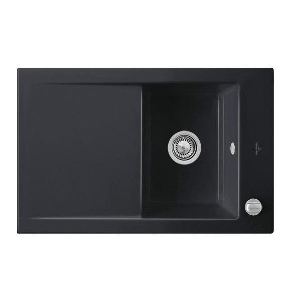 villeroy boch timeline 45 flat sp le mit excenterbet tigung b 76 5 t 47 5 cm ebony position. Black Bedroom Furniture Sets. Home Design Ideas