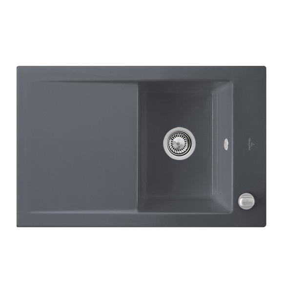 villeroy boch timeline 45 flat sp le mit excenterbet tigung b 76 5 t 47 5 cm graphit. Black Bedroom Furniture Sets. Home Design Ideas