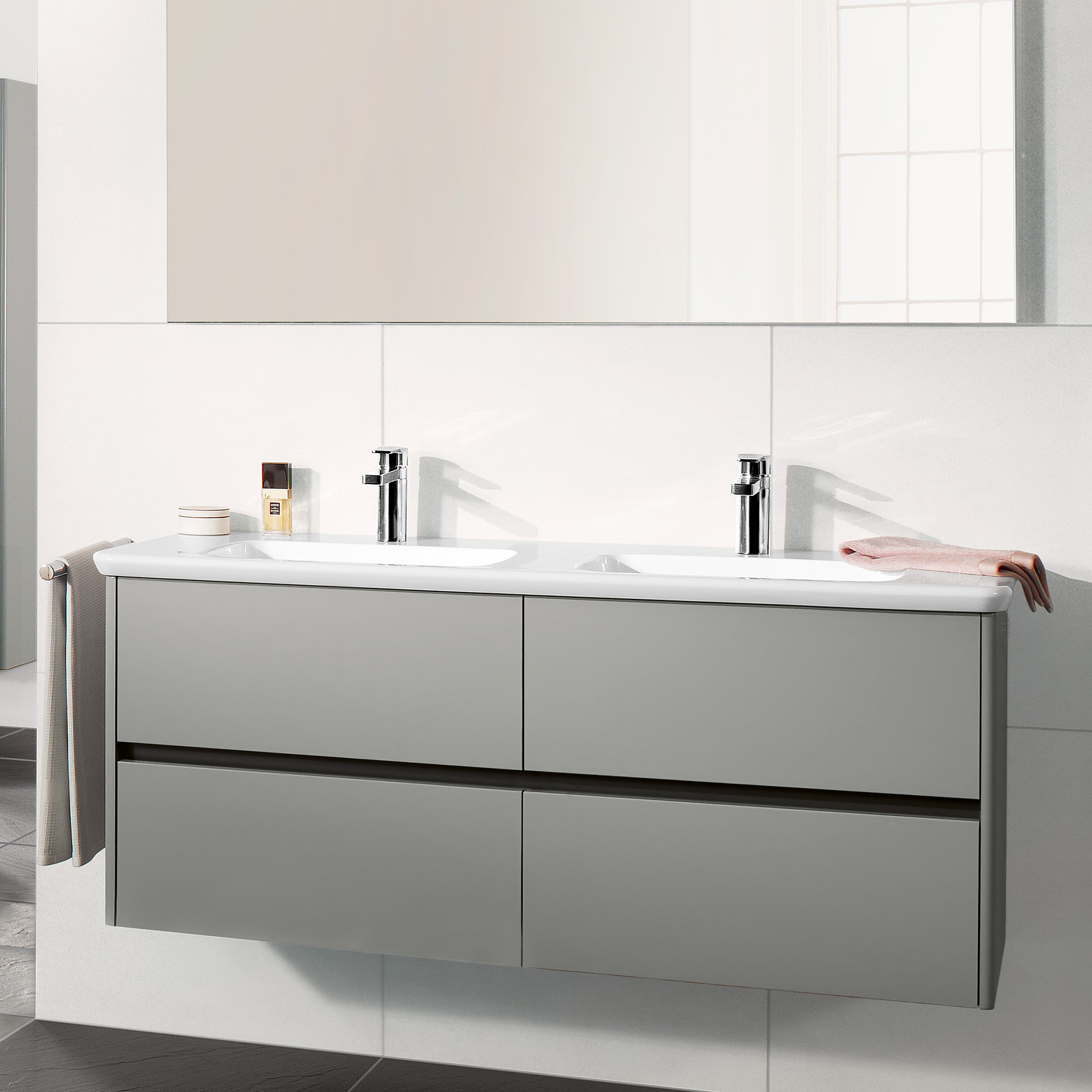 villeroy boch vivia doppelwaschtisch b 130 t 49 cm wei 4143d101 reuter onlineshop. Black Bedroom Furniture Sets. Home Design Ideas