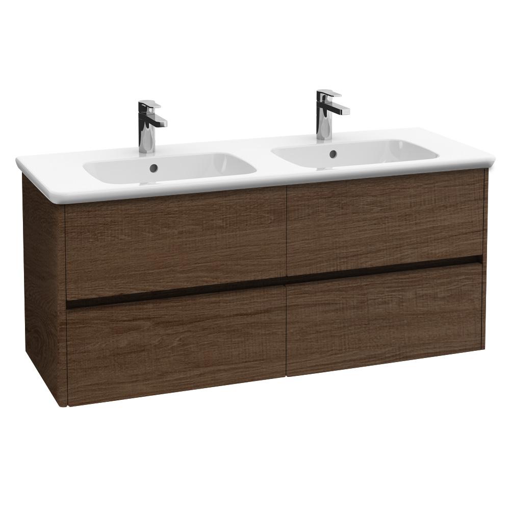 Villeroy boch vivia doppel waschtischunterschrank mit 4 ausz gen santana oak b04400e1 - Doppel waschtischunterschrank ...