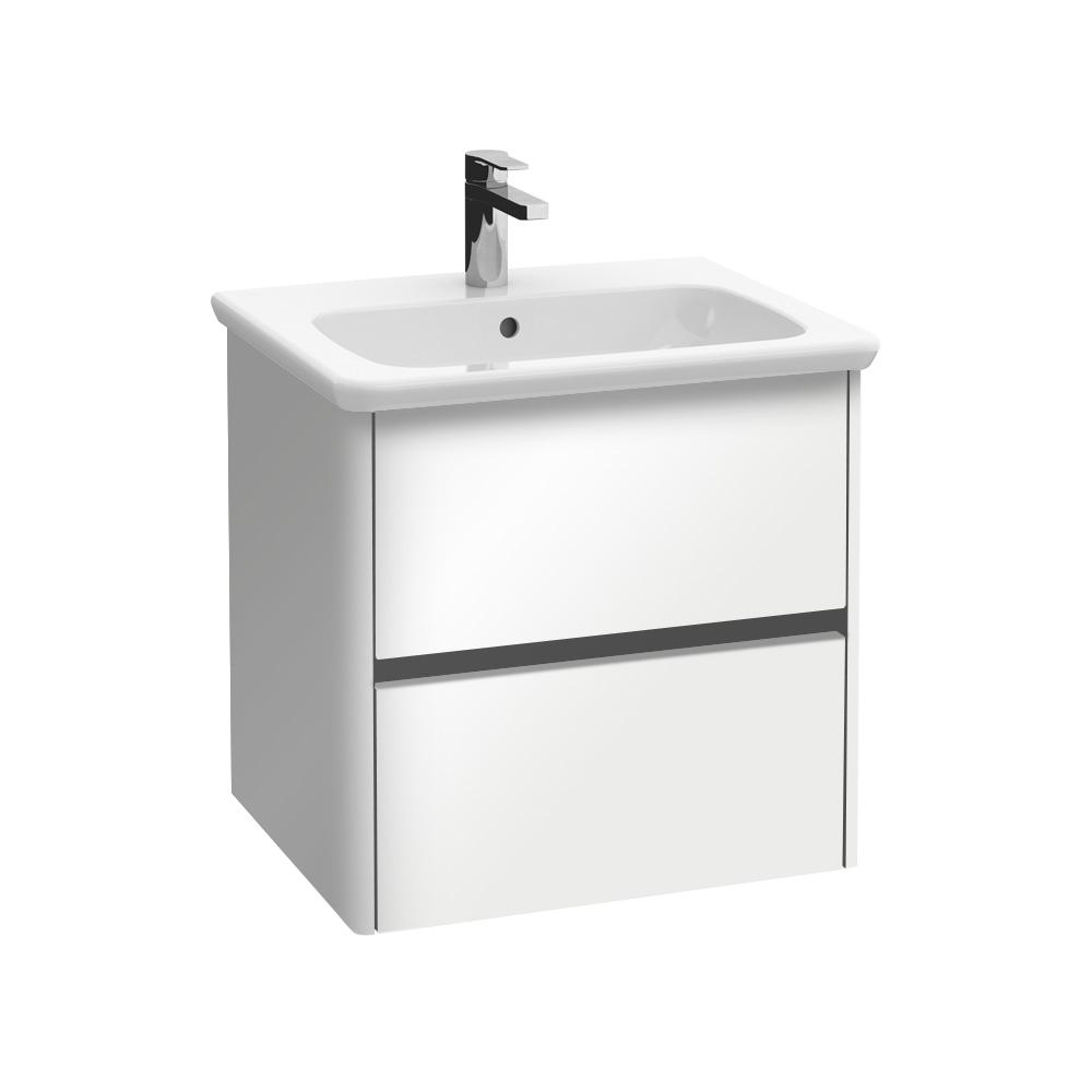 villeroy boch vivia waschtischunterschrank mit 2 ausz gen glossy white b04000dh reuter. Black Bedroom Furniture Sets. Home Design Ideas