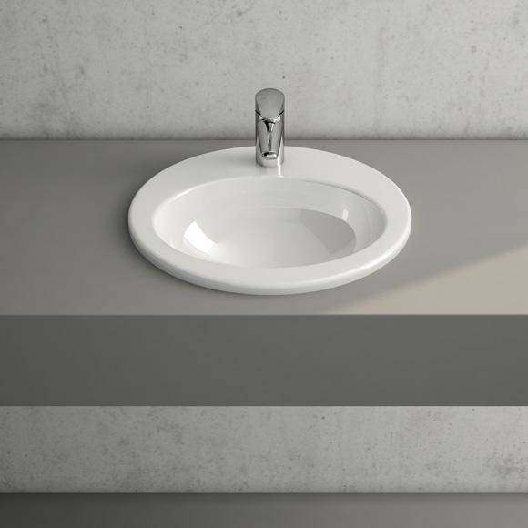 vitra s20 einbauwaschtisch mit 1 hahnloch 5466b003 0001. Black Bedroom Furniture Sets. Home Design Ideas