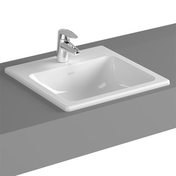 vitra s20 einbauwaschtisch mit 1 hahnloch 5463b003 0001. Black Bedroom Furniture Sets. Home Design Ideas