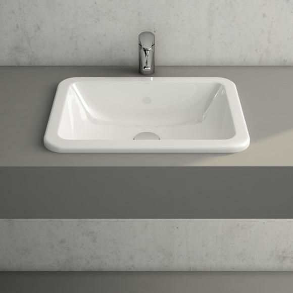 vitra s20 einbauwaschtisch ohne hahnloch 5474b003 0642. Black Bedroom Furniture Sets. Home Design Ideas