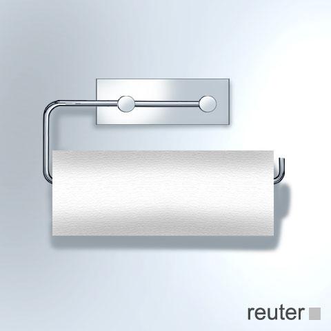 vola t13l papierhalter f r 2 wc rollen oder 1 k chenrolle edelstahl geb rstet t13l 40 reuter. Black Bedroom Furniture Sets. Home Design Ideas