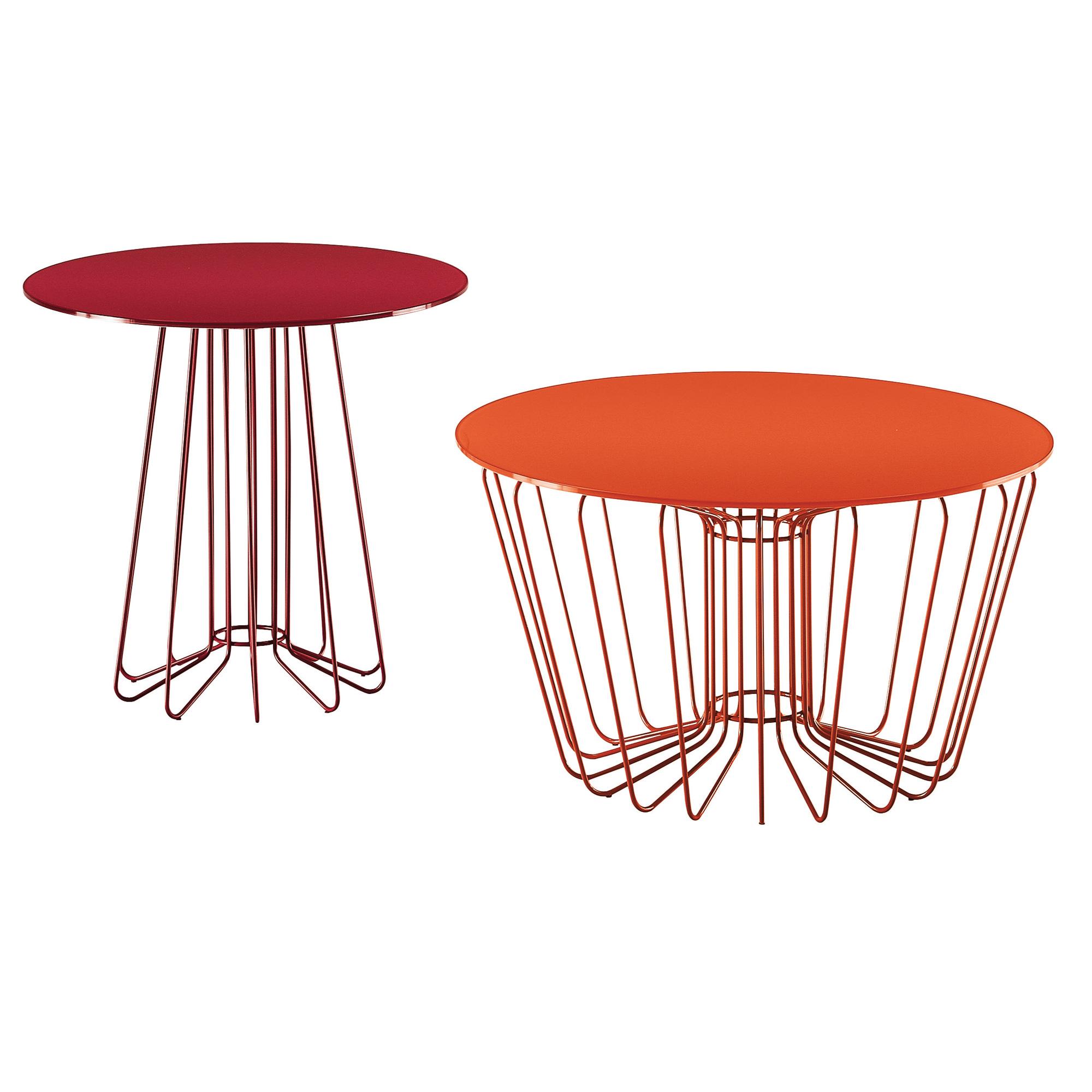 zanotta 651 smallwire beistelltisch 651 rot reuter. Black Bedroom Furniture Sets. Home Design Ideas